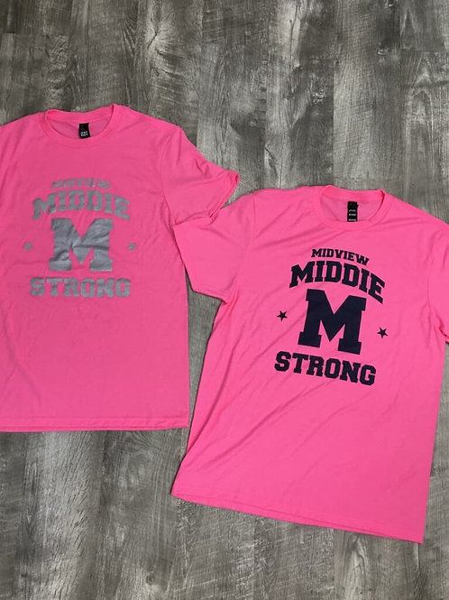 Midview Youth and Adult Pink T Shirts