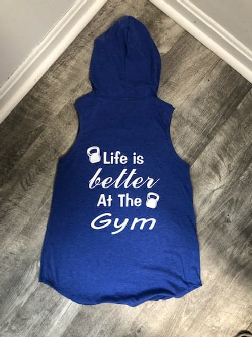 Life is Better Hooded Tank