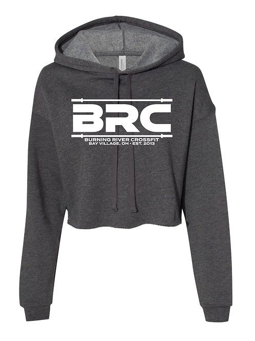 BRC Women's Cropped Hoodie Gray Barbell