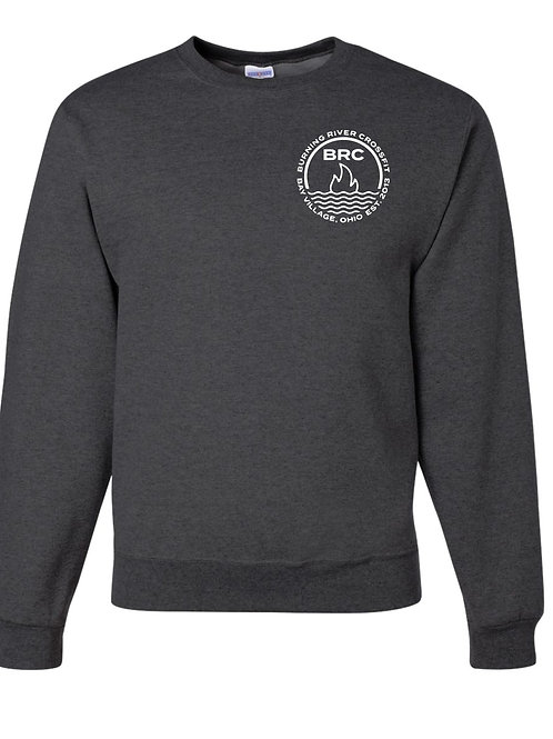 BRC Unisex Crew Neck Heather Black Circle