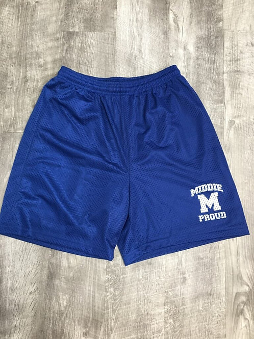 Midview Youth and Adult Blue Mesh Shorts
