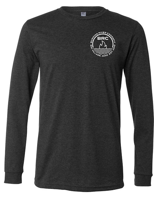 BRC Unisex Long Sleeve Shirt Gray Circle