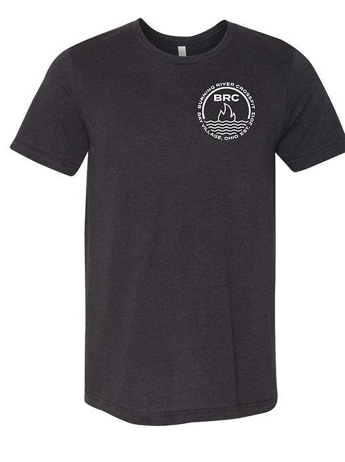 BRC Unisex T-Shirt Charcoal Black Tri-blend Circle