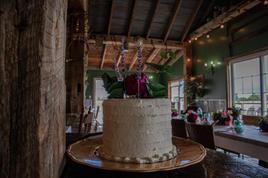 Moody Fall Wedding Cake