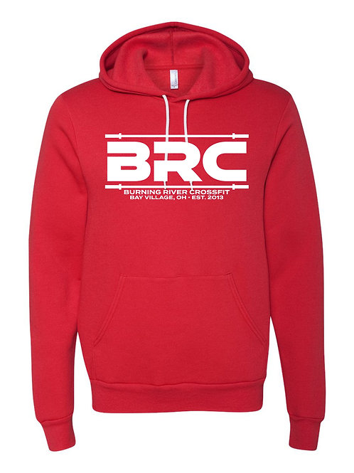 BRC Unisex Hoodie Heather Red Barbell