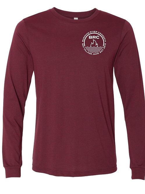 BRC Unisex Long Sleeve Shirt Heather Cardinal Circle