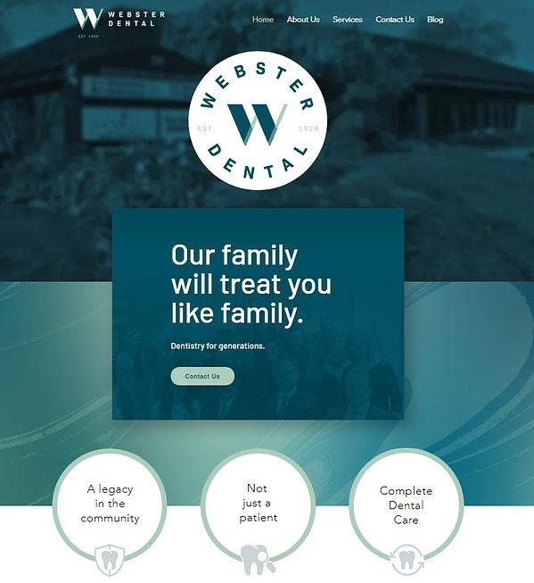 Webster Dental Website