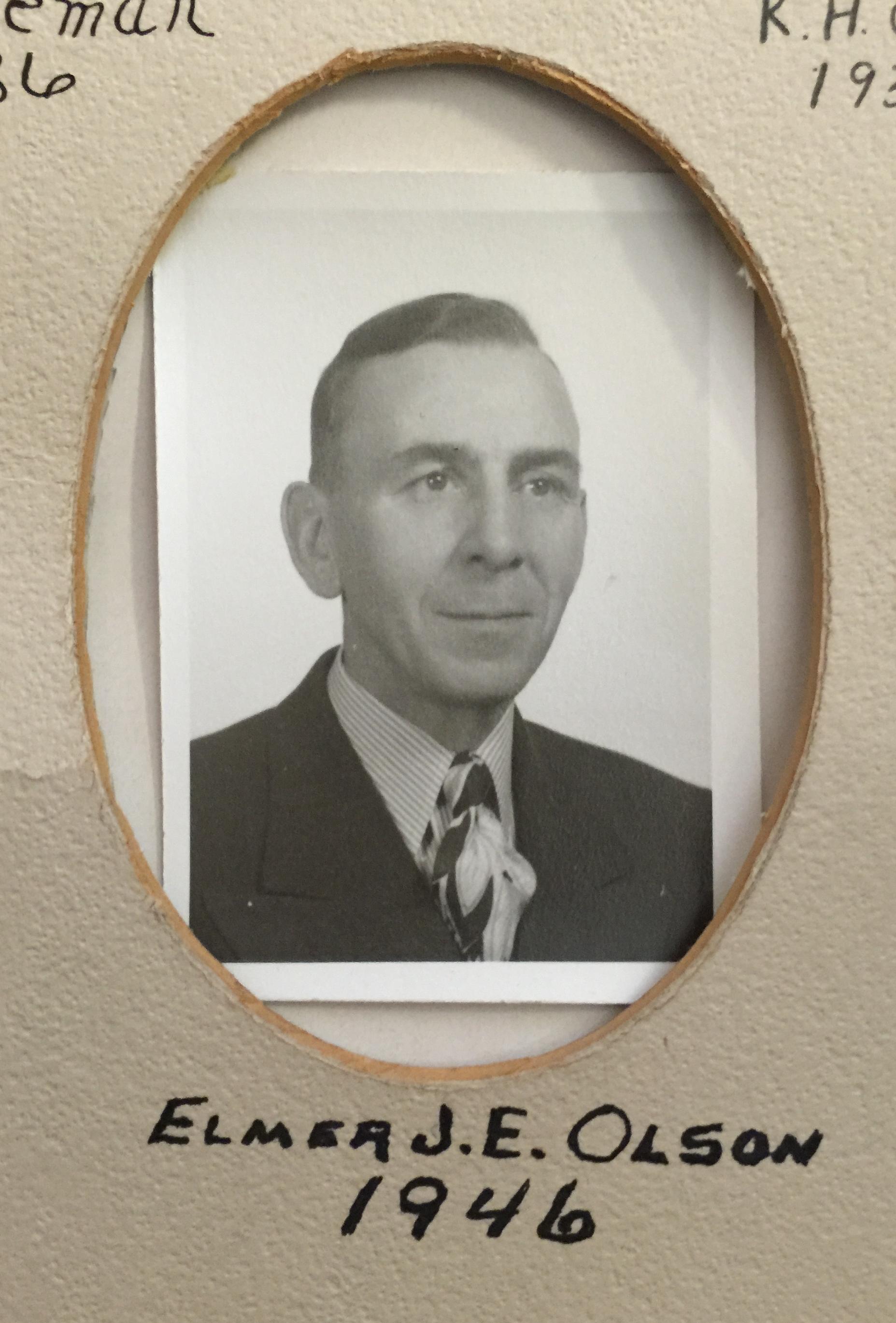 1946 Elmer J.E. Olson