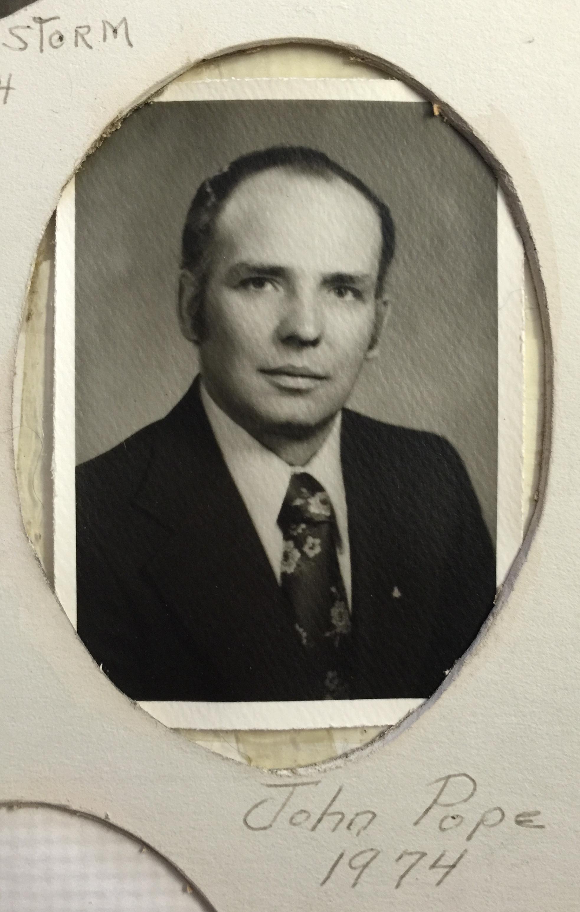 1974 John Pope