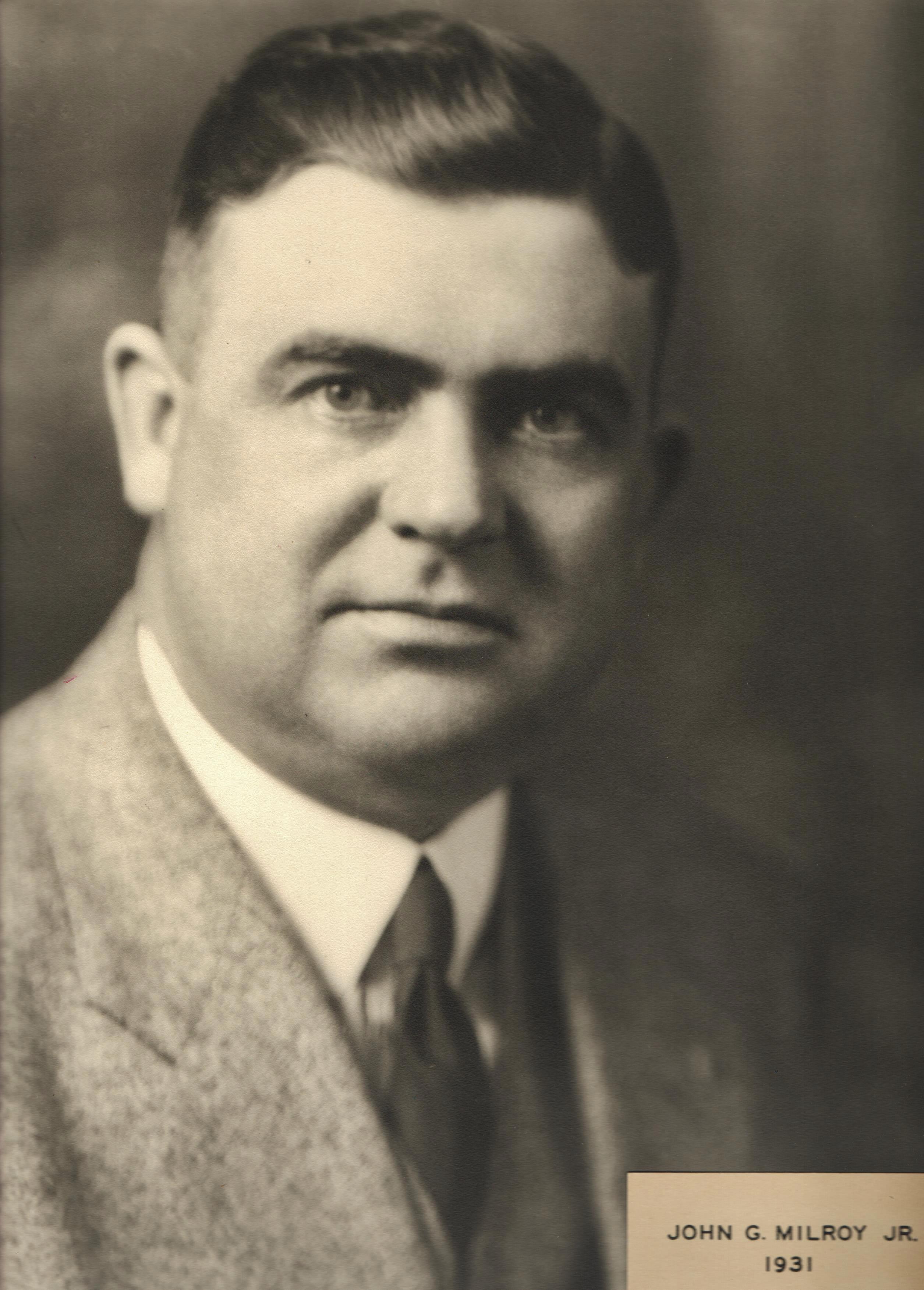 1931 John G. Milroy Jr.