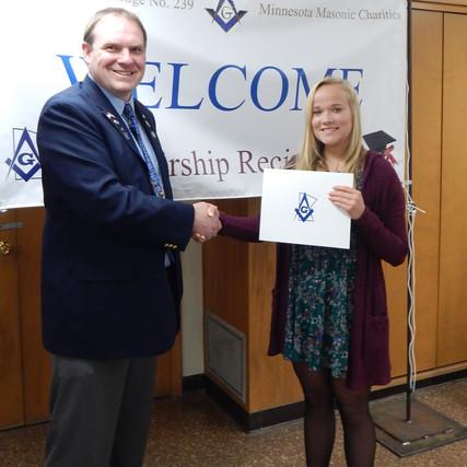 Scholarship Winner: Rebekah Davidson!