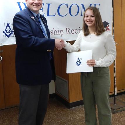 Scholarship Winner: Adrianna Hudyma!