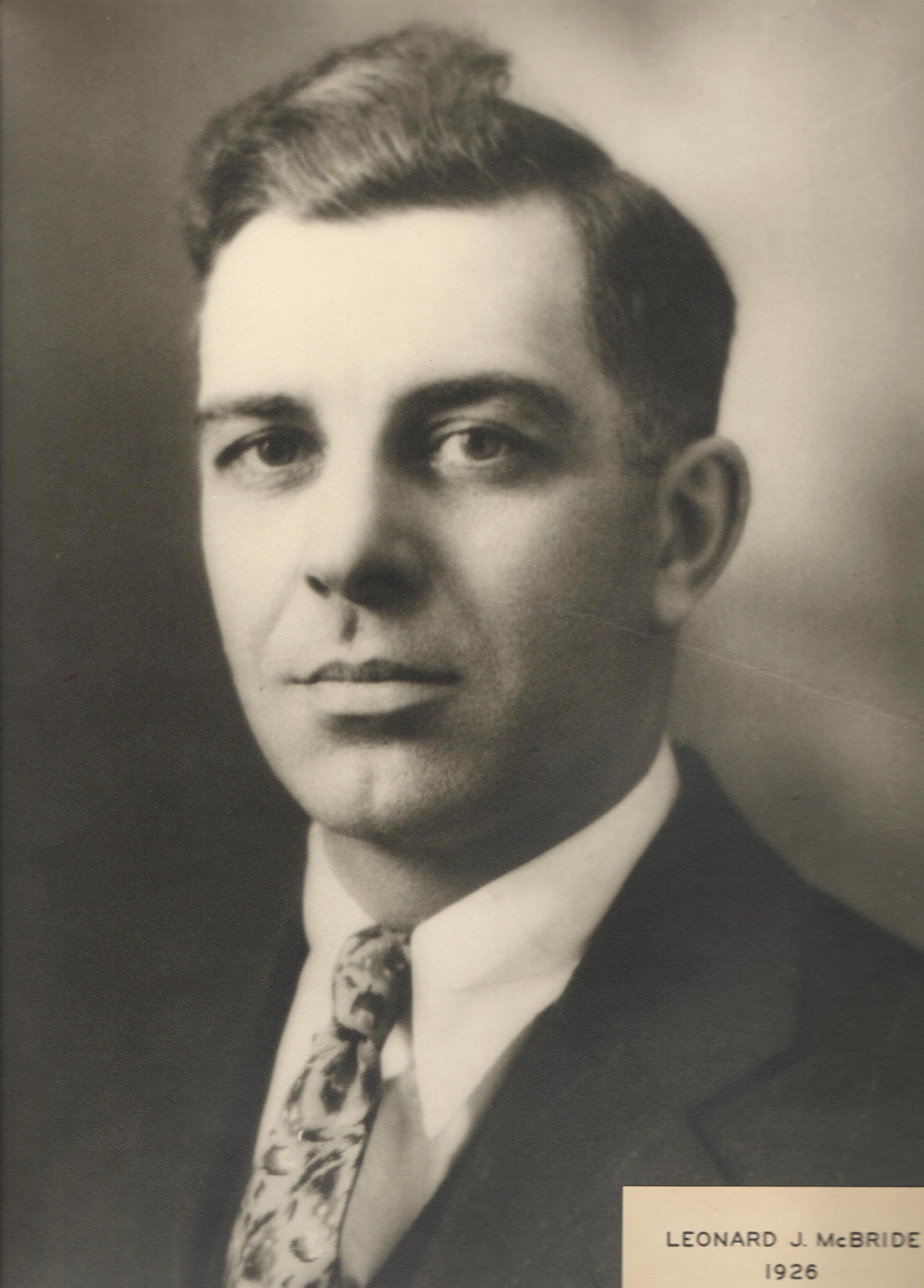 1926 Leonard J. McBride