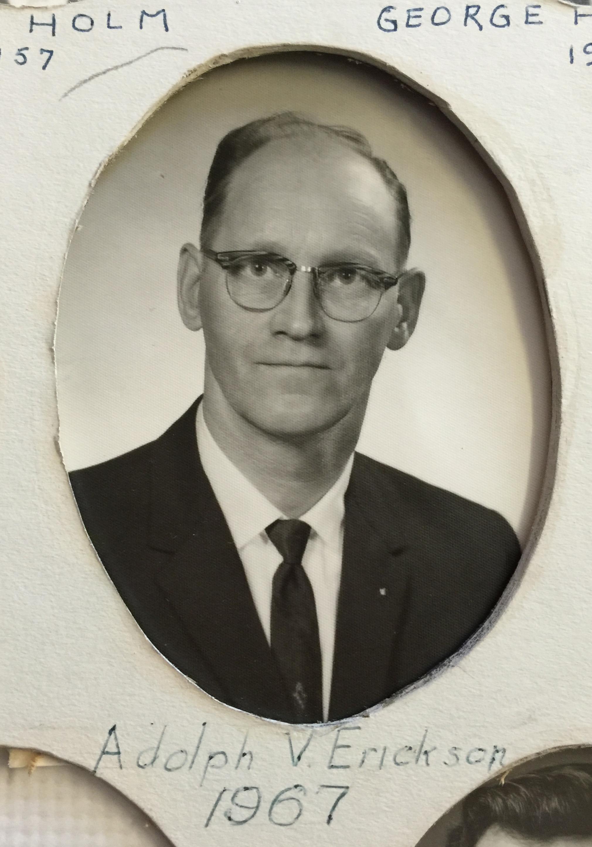 1967 Adolph V. Erickson