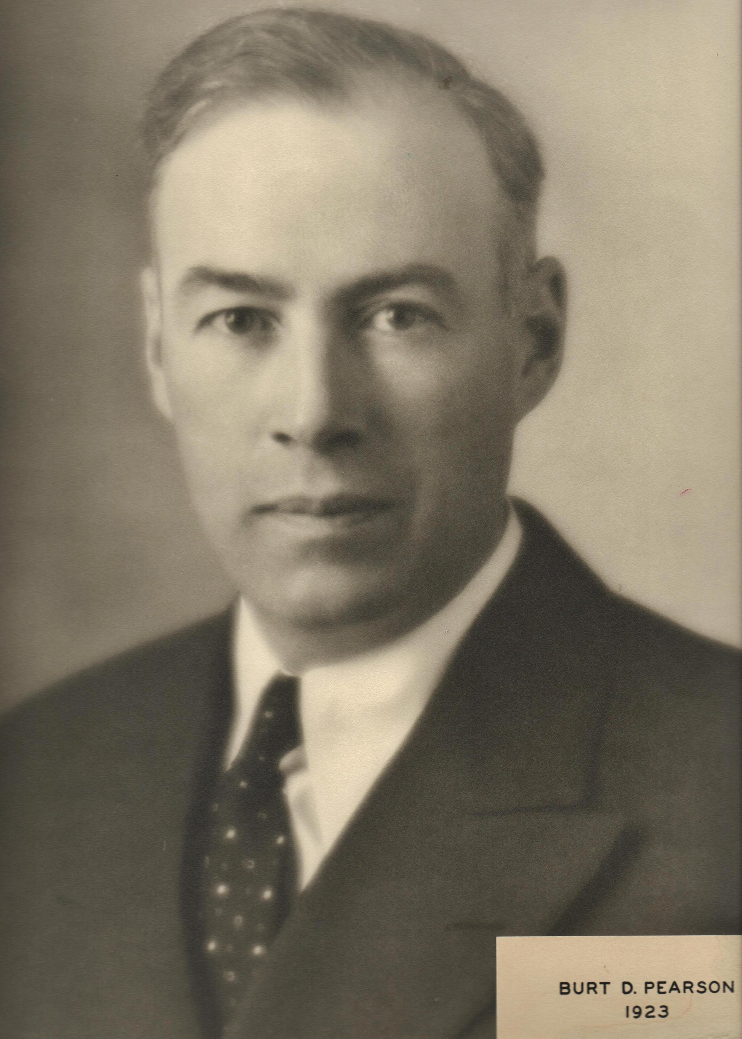 1923 Burt D. Pearson