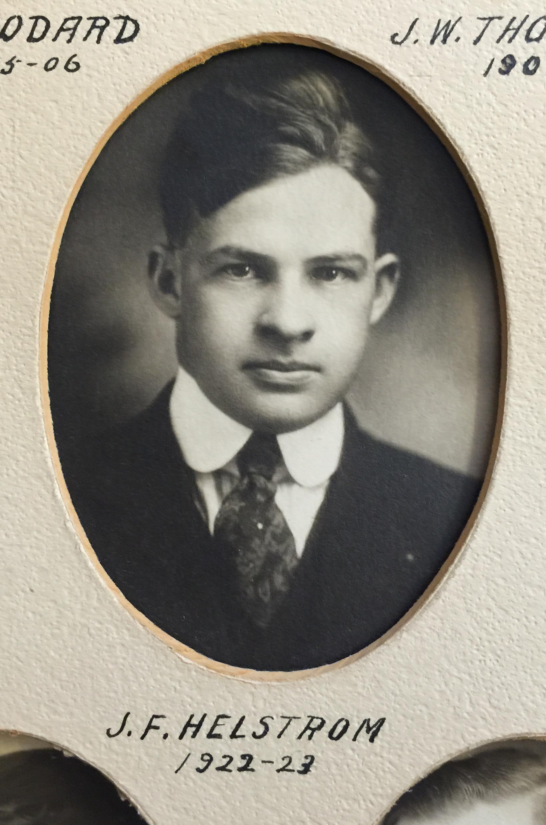 1922-1923 J.F. Helstrom
