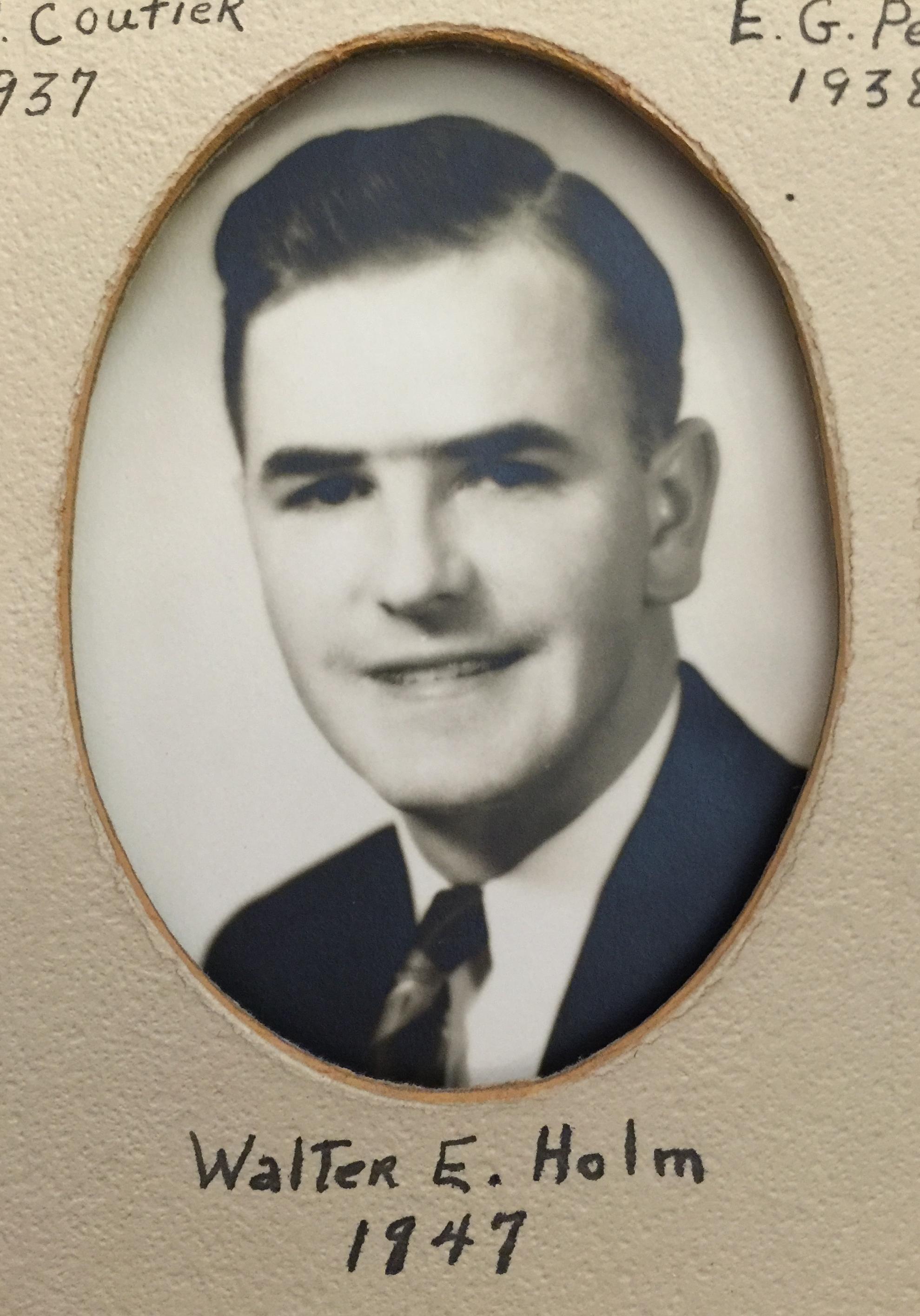 1947 Walter E. Holm