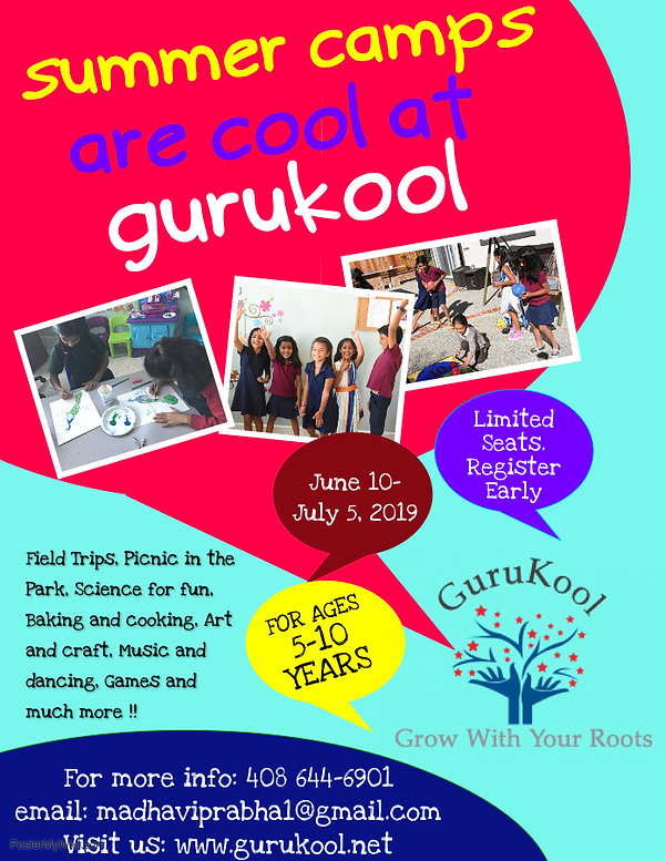 Gurukool Summer Camp Flyer - Made with P