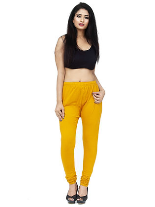 Women's Mustard Churidaar Leggings Cotton Lycra 4 way Stretchable