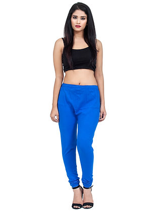 Women's Royal Blue Churidaar Leggings Cotton Lycra 4 way Stretchable