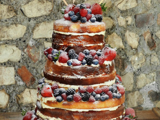 Naked Wedding Cakes in West Sussex