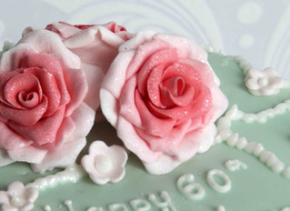 Vintage Rose and Pearl 60th Birthday Cake