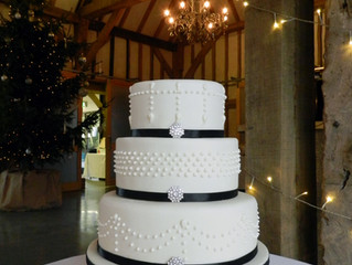 Winter Wedding Cake at Southend Barns, Chichester