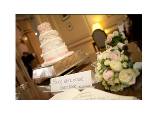 Pink Hydrangea Wedding Cake at The Lansdowne Club in Mayfair, London