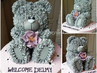 Taddy Teddy Cake - great birthday cake or christening cake