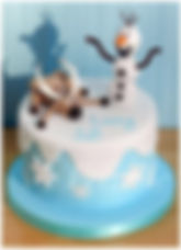 Olaf cake Sven Frizelle Cakes Chichester