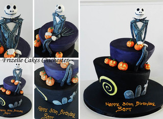 Nightmare Before Christmas Wonky Cake