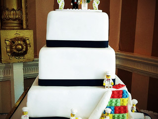 Lego Wedding Cake, Norfolk Arms Arundel: A Facebook Hit!