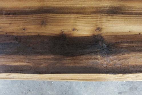 Gerookte Lariks houten boomstamtafel