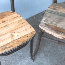 Remix stoel met houten onderstel