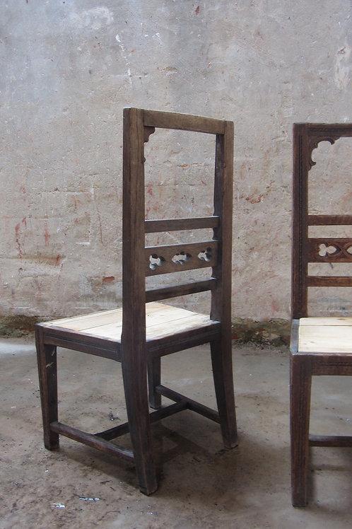 Houten stoelen set