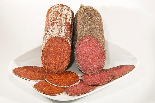 Chorizo Pamplona y Salchichon alemán