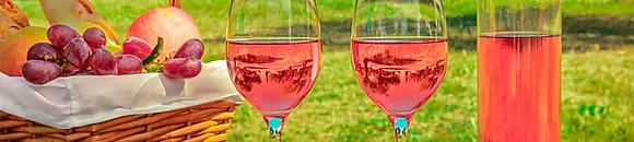 Carta de vinos rosados