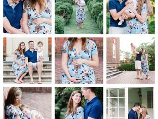Family Maternity Session ~ Historic Yorktown, Virginia