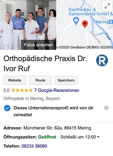 Google Dr Ruf - Agentur Donau