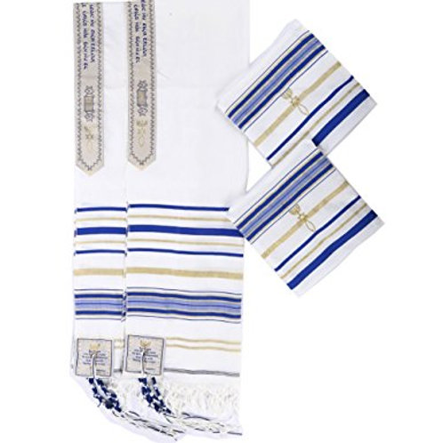 New Convenant Messianic Tallit Prayer Shawl with Matching bag