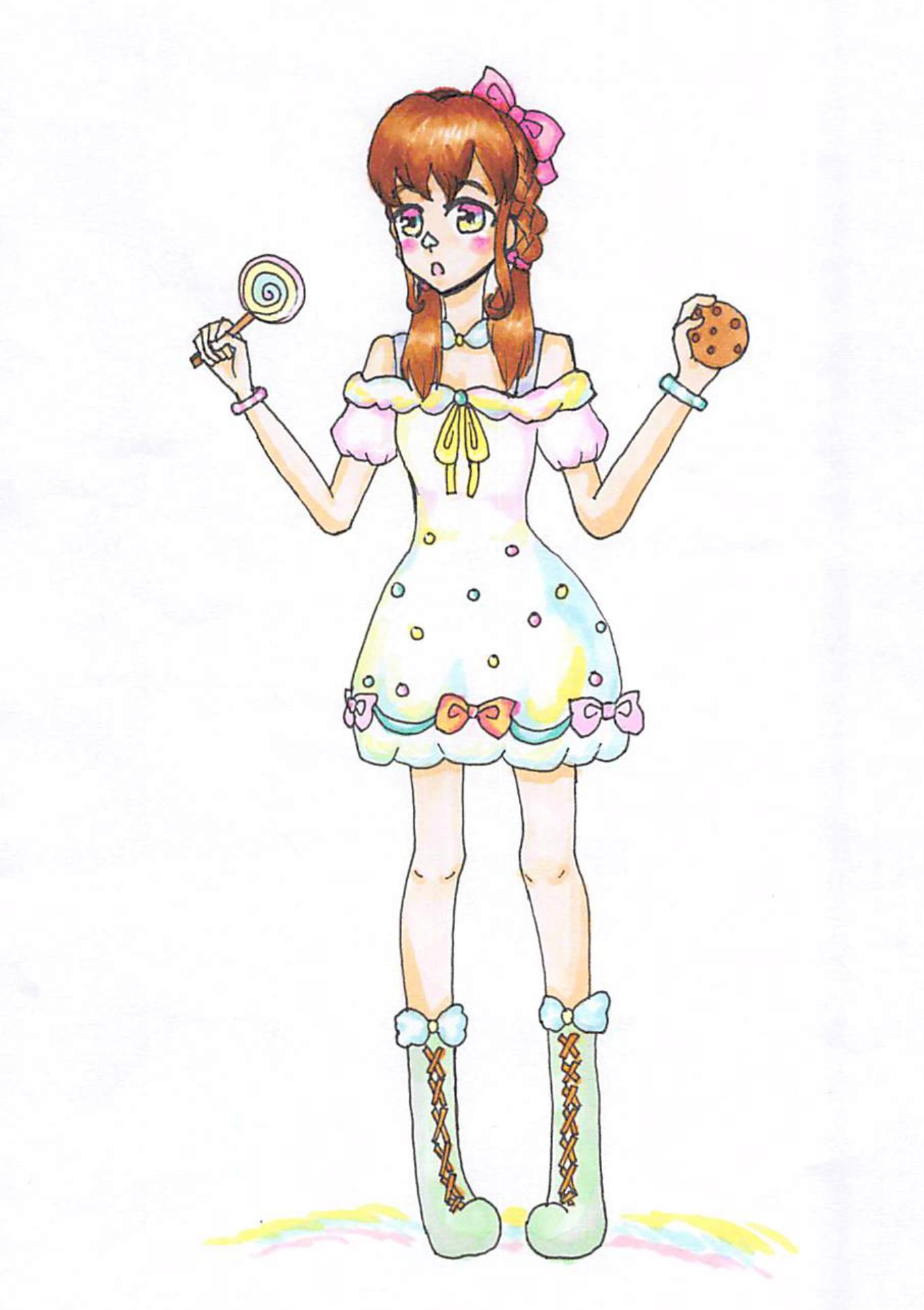 お菓子好きな女の子