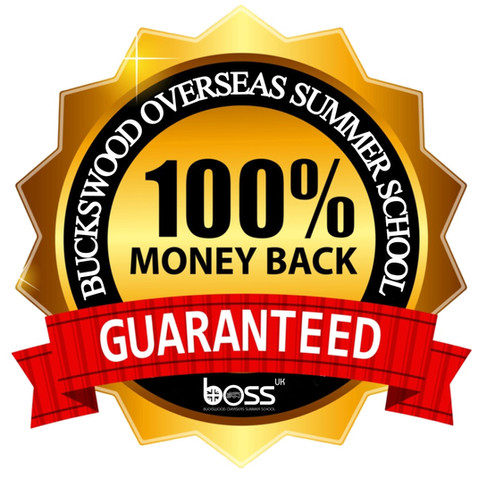 100% Money Back Guarantee with Buckswood Overseas Summer School