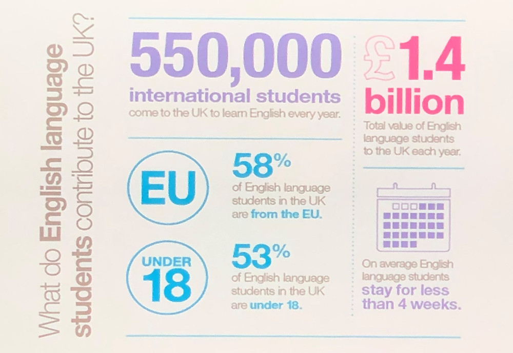 What do English language students contribute to the UK?