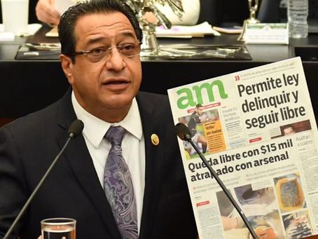 Urge Salim prisión preventiva por portar armas y huachicol