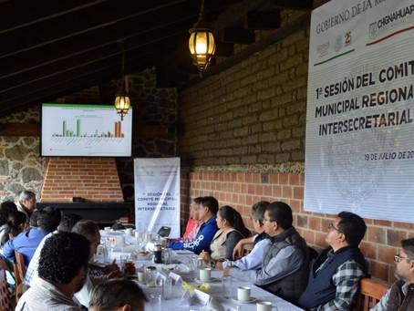 Sesiona Comité Municipal Regional de la Cruzada Sin Hambre en Chignahuapan
