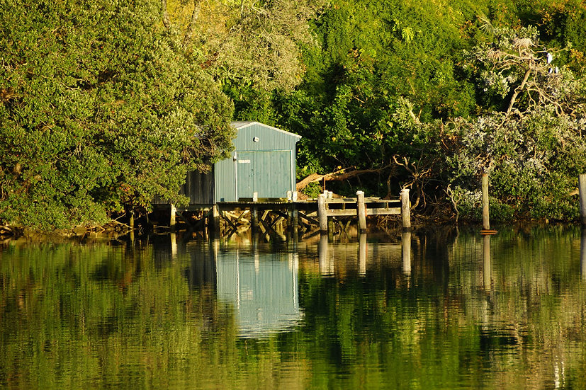 Reflections on a Boatshed