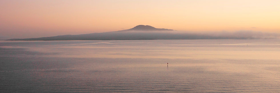 Early morning mist over Rangitoto Island
