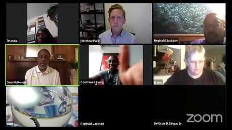 Reginald Jackson Zoom Meeting
