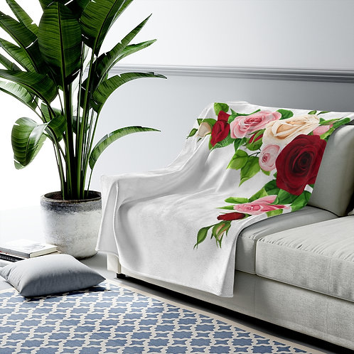 Velveteen Plush Couch Blanket