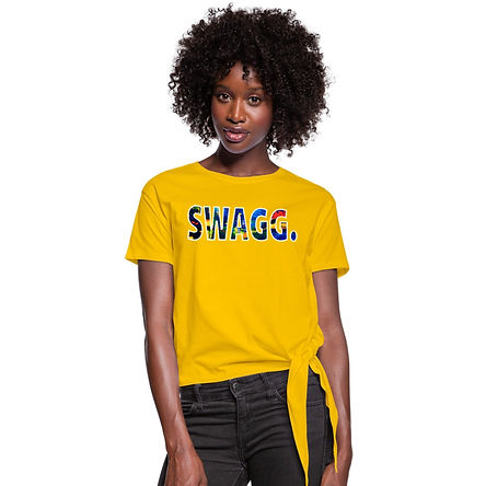 Swagg Womens Knotted Tie Shirt